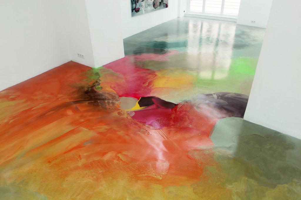 наливной пол с рисунком